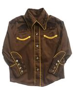 Rockmount Ranch Wear Children's Vintage Western Shirt: Classic Style with Bison Cocoa