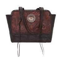 American West Handbag Annie's Secret Collection: Concealed Carry Zip Top Tote Crimson