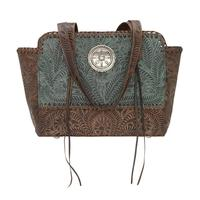 American West Handbag Annie's Secret Collection: Concealed Carry Zip Top Tote Turquoise
