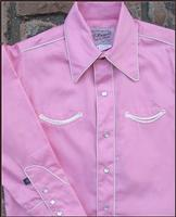 Rockmount Ranch Wear Children's Vintage Western Shirt: Classic Style with Piping Pink XS-XL