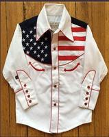 Rockmount Ranch Wear Children's Vintage Western Shirt: Flag Design Show Your Colors XS-XL