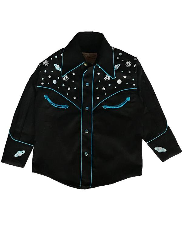 Rockmount Ranch Wear Children's Vintage Western Shirt: A Out Of This World  Black
