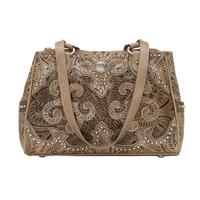 American West Handbag Annie's Secret Collection: Leather Multicompartment Sand