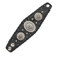 American West Handbag Accessory Collection: Bracelet Wide Cuff Black