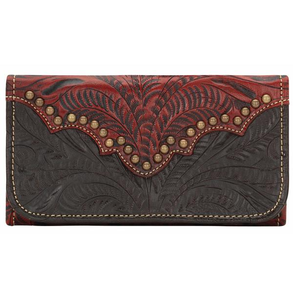 American West Handbag Annie's Secret Collection: Leather Tri-Fold Wallet Chocolate