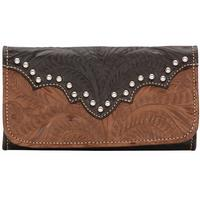 American West Handbag Annie's Secret Collection: Leather Tri-Fold Wallet Antique Brown