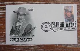 First Day Stamp: John Wayne