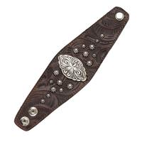 American West Handbag Accessory Collection: Bracelet Wide Cuff Chestnut Brown