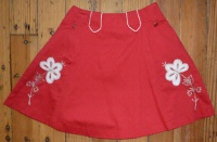 Rockmount Ranch Wear Children's Vintage Western Skirt: Embroidered Red XS-XL