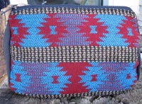 Casual Accessory Collection: Cosmetic Bag Turquoise and Red