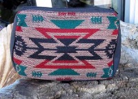 Casual Accessory Collection: Cosmetic Bag Tan Green Red Black