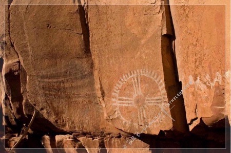 Photographer In The Lens, Bill Birkemeier: Note Card Sedona, Circle Petroglyph, Palatki Ruins Color