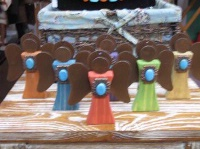 ZSold Casa Tranquila Designs: Ornament Angels w Turquoise Southwest Style SOLD