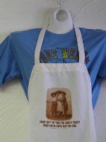ZSold Side Saddle Butcher Apron: There Ain't No Time For Lookin' Pretty When You've Gotta Slop The Pigs SOLD