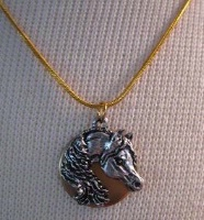 Cowgirl Heart Jewelry: Arabian Horse on Brass