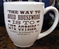 Side Saddle Mug: The Way To Avoid Housework,,