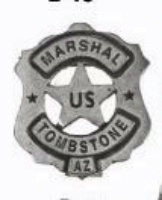 Colorado Silver Star Old West Badge: U.S. Marshal Tombstone