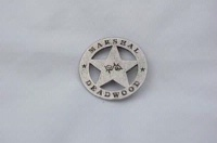 Colorado Silver Star Old West Badge: Marshal Deadwood