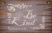 Cowboy Brand Furniture: Wall Sign-Faith-BE KIND