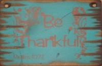Cowboy Brand Furniture: Wall Sign-Faith-BE THANKFUL