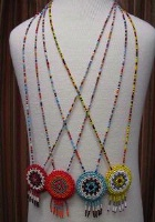 A Navajo Necklace: Beaded Rosette