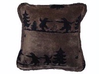 Denali® Rustic Collection: Bear Boogie Reverse Black Throw Blanket