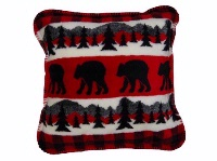 Denali® Rustic Collection: Bear Plaid Border Pillow
