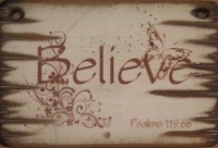 Cowboy Brand Furniture: Wall Sign-Faith-BELIEVE