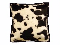 Denali® Western Collection: Black & White Cow Pillow