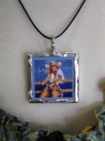 Ceramic Tile Necklace Doreman Burns: Calypso Corral