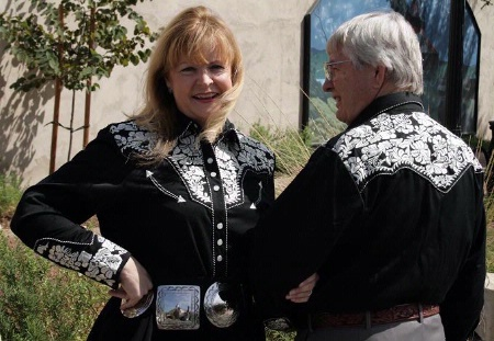 a7724f79fec A Scully Ladies  Vintage Western Shirt  The Gunfighter Black with Silver  S-2XL