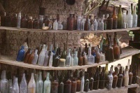 Photographer In The Lens, Bill Birkemeier: Note Card Ghost Town Bottles Color