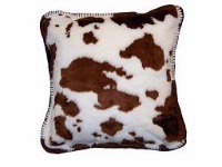 Denali® Western Collection: Brown & White Cow Pillow