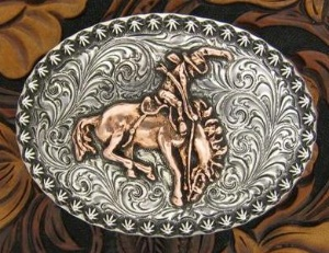 Silver King Buckle: Bronc Rider Trophy Buckle Special Order