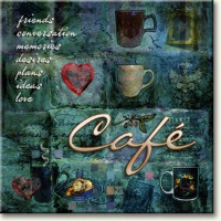 Evie Cook Digital Prints: Café