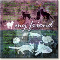 Evie Cook Digital Prints: My Friend, Cats