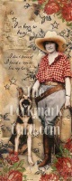 ZSold BookMarkCard Friends: Cowgirl, I've been so busy...SOLD