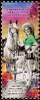 ZSold BookMarkCard Friends: Cowgirl..A Gal Can Wait for the Right Man SOLD