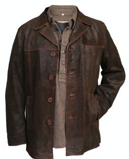 Scully Men&39s Leather Jacket: Car Coat Steampunk Style S-2XL