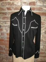 ZSold Cad Zoots Vintage Western Shirt: Classic Black M SOLD