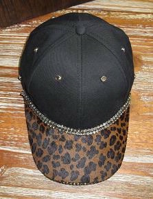 Pat Dahnke Signature Collection Chic Cap: Bling Cap Baby Leopard Print Special Order
