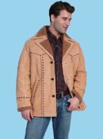 ZSold Scully Men's Leather Jacket: Casual Suede Car Coat w Faux Fur S-2XL SOLD