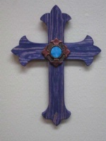 Casa Tranquila Designs: Cross Southwest Fleur-De-Lis