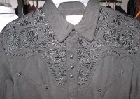 Scully Men's Vintage Western Shirt: The Gunfighter Solid Charcoal & Charcoal