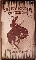 Wall Sign Rodeo: Cheyenne West Frontier Days