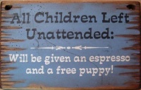 Wall Sign Business: Unattended Children