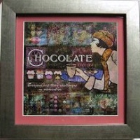 Evie Cook Digital Prints: Chocolate in Pink SOLD