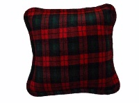 Denali® Rustic Collection: Plaid Buffalo Check Spruce Red Pillow