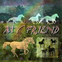 TXLC Custom Tile Coaster Single Horse: My Friend