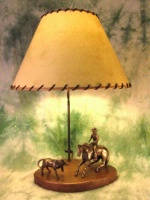 ZSold Lamp by Western Lamps: Cowboy and Doggie SOLD